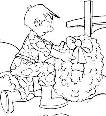 Memorial Day A Bouquet Of Flowers For Coloring Page