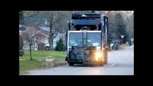 Garbage Trucks Collecting Yard Waste - Fall 2013 - YouTube