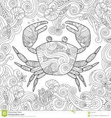 Dessin Animé Coloriage De Crabe Image Vectorielle Oriu007 © 180680316