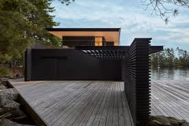 100 Lake Boat House Designs Charred Cedar Clads Ontario Lake Boathouse By Atelier