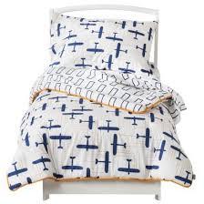 365 Globetrotter 4pc Blue Airplanes Toddler Bed Sheets Set