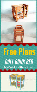 bunk beds doll bunk beds diy doll trundle bed for 18 in doll