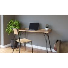 bureau metal et bois table bureau bois gallery of bureau ikea micke blanc avec micke d