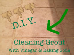 cleaning your grout with vinegar and baking soda