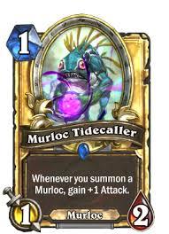 warlock murloc deck 2015 murloc tidecaller hearthstone cards