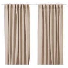 aina curtains 1 pair beige 145x250 cm ikea
