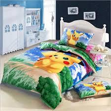Kawaii Japanese Anime Pikachu Bedding Set Pure Cotton Fabric