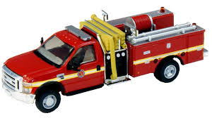 100 Fire Truck Red River Point Station HO 53857A279 Ford F550 Mini Pumper Stripe