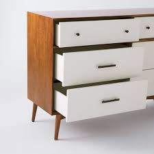 6 Drawer Dresser White by Mid Century 6 Drawer Dresser White Acorn West Elm Au
