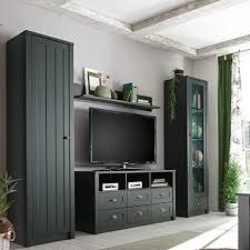 lomadox moderne und geradlinige wohnwand im landhaus stil