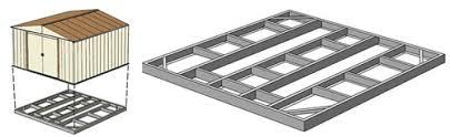 arrow sheds foundation base kit 10x12 10x13 or 10x14 fdn1014