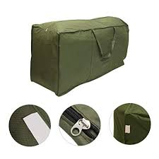 2Pcs Large Outdoor Patio Seat CushionCover Storage Bag Christmas Tree Heavy Duty Container Zippered