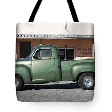 100 Vintage Pickup Trucks For Sale American Restored Green Truck Tote Bag For By