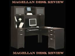 Magellan L Shaped Desk by Review On The Magellen Desk With Hutch Youtube
