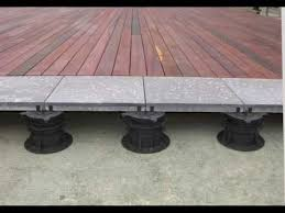Bison Deck Supports Canada by Elmich Versijack Paving U0026 Decking Supports Youtube