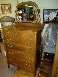 Tiger Oak Dresser With Swivel Mirror by Victorian Tiger Oak Chest Of Drawers With Swivel Mirror 6047 U003cbr