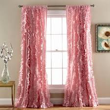 Purple Ruffle Curtain Panel by Bellamie Boho Romantic Ruffle Window Curtain Panel Set U2013 Gogetglam