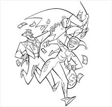 Batman In Fighting Coloring Page PDF Free Download