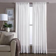 Bed Bath And Beyond Curtains 108 by Buy Sheer 108 Inch Window Curtain Panel In White From Bed Bath
