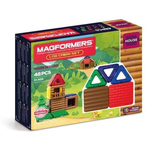 Magformers Log Cabin Building Set - 48ct