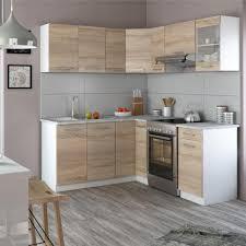 vicco küche rick l form küchenzeile küchenblock einbauküche 167x187cm sonoma