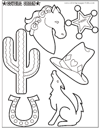 Cowboy Coloring Pages For Children