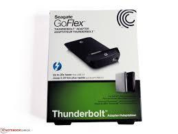 Seagate Goflex Desk Driver by Review Seagate Goflex Thunderbolt Adapter Notebookcheck Net Reviews