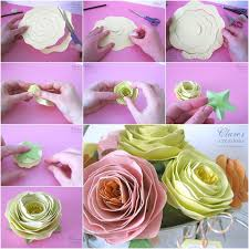 Paper Rose Flower Making Easy Craft Step By Diy