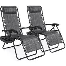 BestChoiceProducts: Best Choice Products Set Of 2 Adjustable Zero Gravity  Lounge Chair Recliners For Patio, Pool W/ Cup Holders - Gray | Rakuten.com Phi Villa Outdoor Patio Metal Adjustable Relaxing Recliner Lounge Chair With Cushion Best Value Wicker Recliners The Choice Products Foldable Zero Gravity Rocking Wheadrest Pillow Black Wooden Recling Beach Pool Sun Lounger Buy Loungerwooden Chairwooden Product On Details About 2pc Folding Chairs Yard Khaki Goplus Wutility Tray Beige Headrest Freeport Park Southwold Chaise Yardeen 2 Pack Poolside