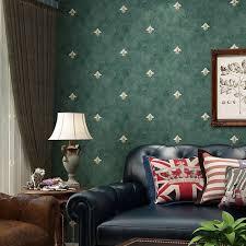 runde net fein vlies tapete retro europäischen blume schlafzimmer wohnzimmer tv hintergrund fleckige dunkelgrün tapeten
