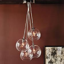 lightinthebox 60w artistic modern pendant with 4 lights in glass