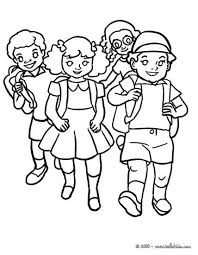 Kids In The School Yard Coloring Page