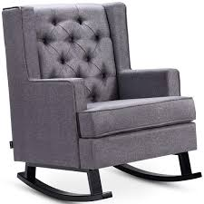 Amazon.com: Giantex Tufted Upholstered Wingback Rocking ... Best Home Furnishings Xpress Steffen 1018 Mid Century Coaster Midcentury Modern Beige Rocking Chair Del Monte Traditional Blue Fabric Push Back Recliner Retro Upholstered Relax Rocker Grey Carson Carrington Honningsvag Midcentury Light Bridgeport Swivel Glider Yashiya J2funk Rockerswivel Choice Products Tufted Polyester Lounge W 360degree Details About Wrought Studio Raya