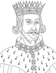 King Henry II Colouring Page