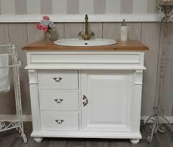 details zu waschtisch mit eichenplatte inkl waschbecken h92xb103xt51 landhausmöbel