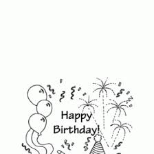 Birthday Card Coloring Pages AZ