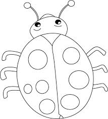 Lovely Lady Bug Coloring Page