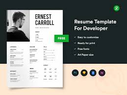 Free Resume Template For Developers With Portfolio - Get PSD ... 70 Welldesigned Resume Examples For Your Inspiration Piktochart Innovative Graphic Design Cv And Portfolio Tips Just Creative Resumedojo Html Premium Theme By Themesdojo Job Word Template Vsual Diamond Resumecv 3 Piece 4 Color Cover Letter Ya Free Download 56 Career Picture 50 Spiring Resume Designs And What You Can Learn From Them Learn