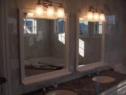 interior bathroom lighting over mirror industrial light fixture