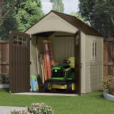 Home Depot Storage Sheds Resin by Suncast Sutton 7 Ft 3 In X 7 Ft 4 5 In Resin Storage Shed