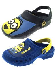 boys despicable me minions blue clogs beach sandals cloggs kids