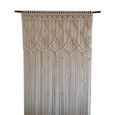 White Cotton Jute Macrame Curtain Rs 1000 piece Esse Dew