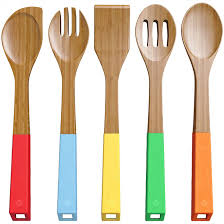 Large Wooden Fork And Spoon Wall Hanging by Amazon Com Vremi 5 Piece Bamboo Spoons Cooking Utensils Wooden