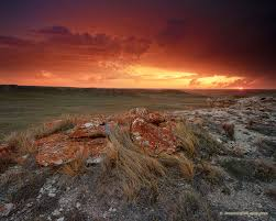 storm and sunset over agate fossil beds national monument