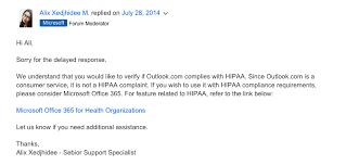 Is Outlook HIPAA pliant Paubox