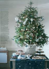 Martha Stewart Christmas Tree Decorations Celestial Being Decorated With Silver Stars And Ornaments In A Pot From Living