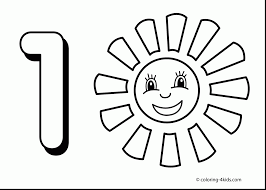 Beautiful Printable Number Coloring Page With 1 And Pages For