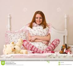 teen on bed royalty free stock image image 13359236
