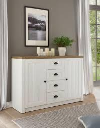 landhaus sideboard wohnzimmer kommode provence 130cm pinie weiß eichefarben hell