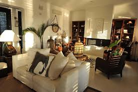 Chile British Colonial Furniture Living Room Tropical With Themed Decorative Pillows